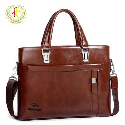 New Men's Vintage Shoulder Handbags Top PU Leather Laptop Bag Fashion Men Messenger Bags Briefcases Shoulder Crossbody Bags F211