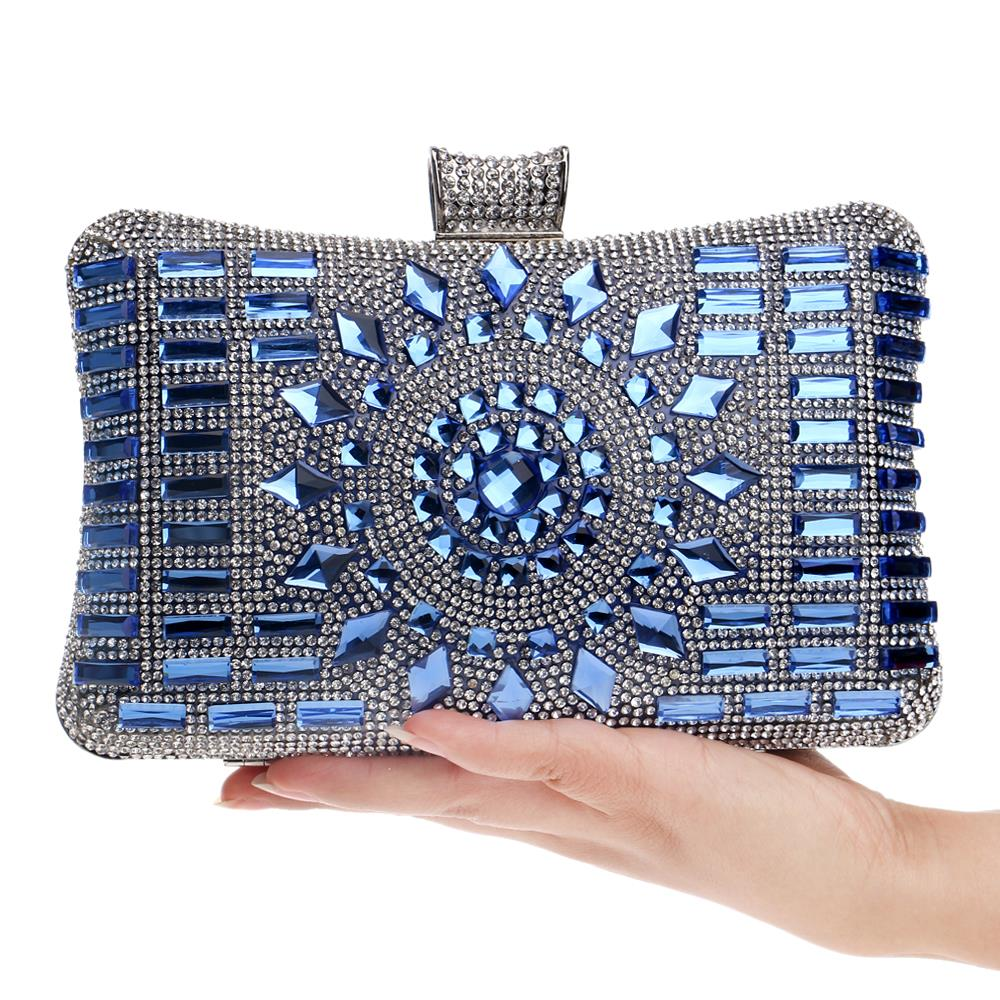 77b1ec38fa NEW diamond silver evening bags top quality gold clutch bag blue bag ...