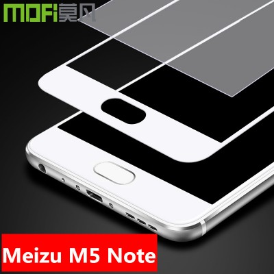 Meizu m5 note glass tempered glass meizu m5 note  screen protector 9H full cover  white black MOFi original protective glass