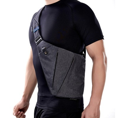 NewBring Compact Single Shoulder Bags for Men Waterproof Nylon Crossbody bags Male Messenger Bag Multipurpose Daypack Single Shoulder Bags