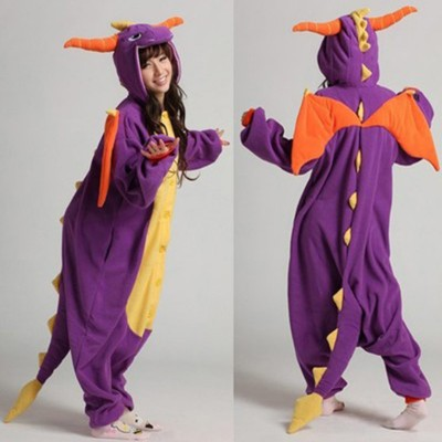 Pajamas Adult Kids Cosplay Costumes Purple Dragon Onesies For Unisex Dance Fancy Pajamas Party Childrens Day Gift