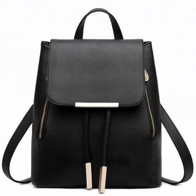 Backpack Women Pu Leather Female Backpacks Teenager School Rucksack