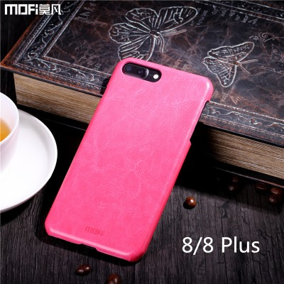 MOFI Phone Case For iphone 8 plus case cover MOFi for iphone 8 case PU leather back cover business style for iphone 8 plus cover brown blue 8 8P