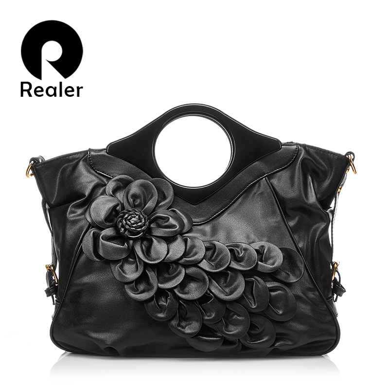 2019 Fashion Women 3D Red Flower Bags High Quality PU Leather Ladies Tote  Bag Female Handbag Women Cross Body Shoulder Bags a5ba75da087f6