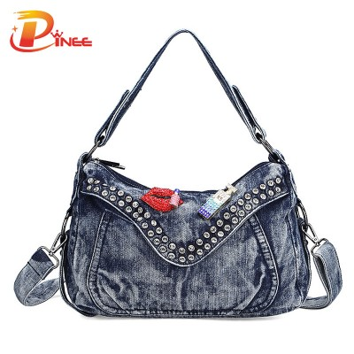 Vintage Denim Shoulder Handbags Women Fashion Bags Famous Brand Ladies Denim Handbag Small Crossbody Bag for Women Denim Tote Bag