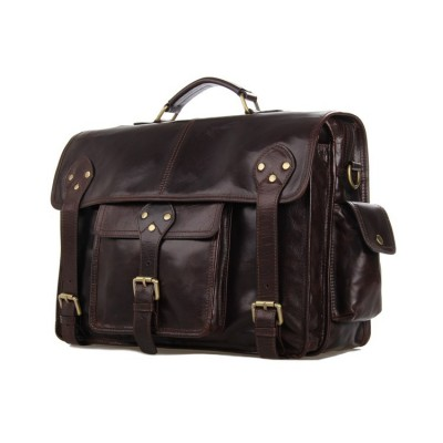 J.M.D Factory Directly 100% Genuine Leather Vintage Men's Coffee Hand bags Briefcases For Business Shoulder Bags 7200C