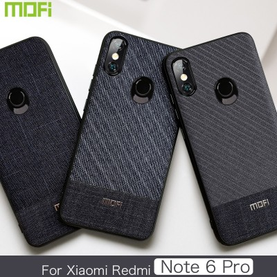 Xiaomi Redmi Note 6 Pro Case Mofi Redmi Note 6 Pro Back Cover Fabric Business Gentleman Redmi Note6 Pro Cover