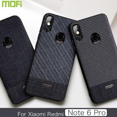 Xiaomi Redmi Note 6 Pro Case Mofi Redmi Note 6 Pro Back Cover Fabric Business Gentleman Redmi Note6 Pro Cover