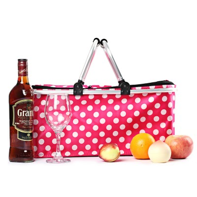 Multifunctional Insulated Cold Foldable Thermal Cooler Picnic Lunch Bags Outdoor Activities Picnic Basket Storage Bag Lunchbox