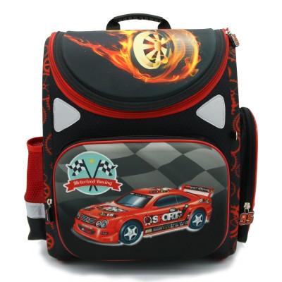 2019 New Boys Racing CarsSpider-Man School Bags Orthopedic Folding School Backpacks Mochila Infantil Waterproof  Kids Bolsas