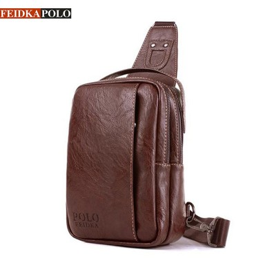 Famous Brand Bag Men Chest Pack Sling Single Shoulder Strap Pack Bag Leather Travel Bag Men Fashion Handbags Rucksack Chest Bag