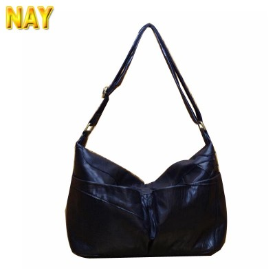 Black Women Messenger Bags Patchwork Soft Famous Designers Leather Handbags Large Capacity Women Bags Shoulder Tote Bag