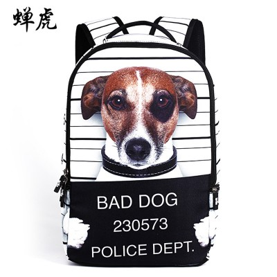 Bad Dog Mr Panda embossing boys and girls students bag backpacks school travel backpack famous brand cartoon bags 2017 New Hot