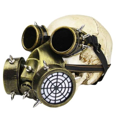 Plague Mask Steampunk Plague Doctor Mask Gothic Vintage Goggles Military Anti-fog Haze Gas Mask Steampunk Party Masks Halloween Anime Cosplay Accessories