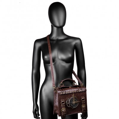 2019 Steampunk Gear Handbags High Quality Leather Cross body Bags Lolita Style Shoulder Bags Steampunk Gear Retro Gothic Bags For Women So Cool