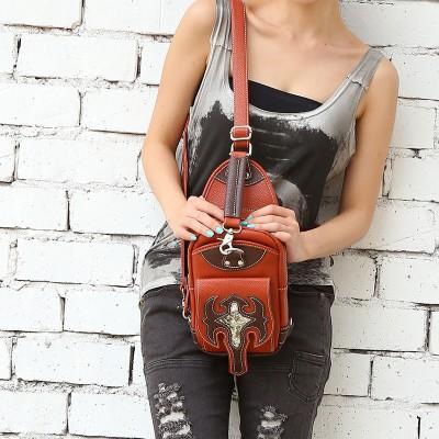 Steelsir 2019 Gothic High Quality Brown One Shoulder Messenger Bag Male And Female Steampunk Casual Fashion Travel Handbag