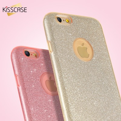 KISSCASE For iPhone 5s 5 SE Case Luxury Glitter PC Case For iPhone SE 5 5s 6 6s 6 Plus Bling Hard Back Protective Cover Capa