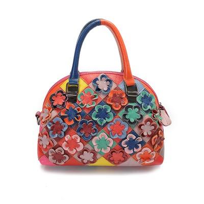 2017 New Luxury shell Women Genuine Leather Bags Women Handbag Patchwork Messenger Bag High Quality Designer Female Shoulder Bag