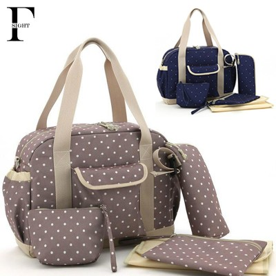 Fashion polka dot baby diaper bag set waterproof tote women bag mom Messenger travel nappy bag multifunction stroller diaper bag