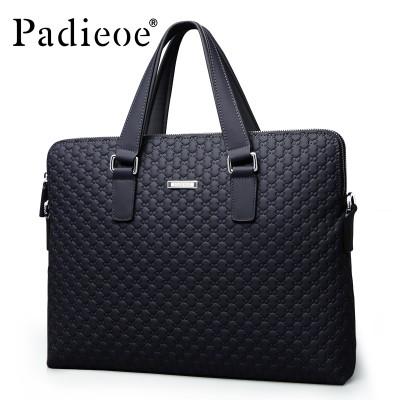 MEN leather messenger bags Men's briefcases bag black leather handbags Man Shoulder laptop bag designer handbags high MEN bag 20