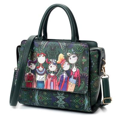 2019 Fairy Tale Cute Cartoon Character Handbag Squirrel Flower Print Sweet Lolita Ladies Tote Bag/One Shoulder/Messenger Bag