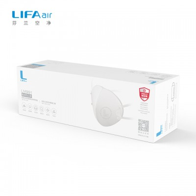 LIFAair LM991 Headless Stereo Skeleton Anti-fog and Dust Respirator Adult White (10 Pack)