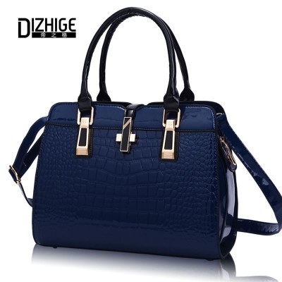 Ladies Hand Bag 2019 Famous Designer Brand Women Shoulder Bags Blue PU Leather Handbags High Quality Famous Tote Shoulder bag