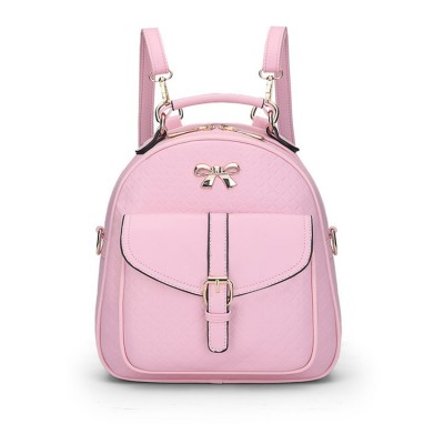 Women Backpacks 2017 Famous Brand High Quality Cute Leather Gilrs School Bags Pink Color Ladies Mini Backpack