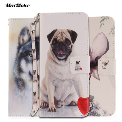 cartoon phone cases New Drawing For iphone 6 Case Cartoon Wolf Leather Cover For iphone 6S Plus Case dog Protection 6 6S Plus 6Plus Phone Bag Covers cartoon cases