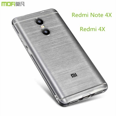 Redmi 4X case redmi note 4x case cover MOFi original xiaomi redmi 4x note 4x soft TPU back cover silicone clear protector capa