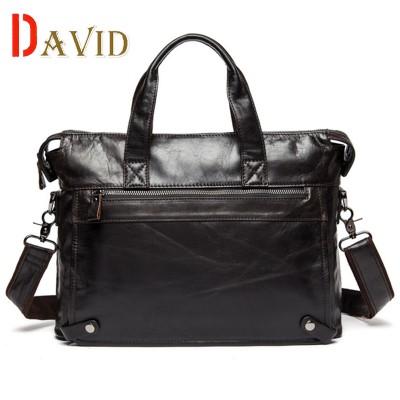 Genuine leather bag designer handbags high quality shoulder bags vintage men messenger bags Casual Business Laptop Briefcase