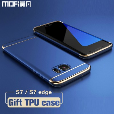 Phone Cases For Samsung For Samsung S7 edge case for Samsung S7 case MOFi back cover hard coque for galaxy s7 edge cover s7 capa funda luxury gold blue