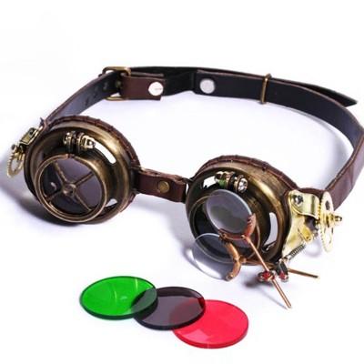 Uniqstore Retro Round Steampunk Sunglasses Men Polarized Punk Sun Glasses for Women Gothic Goggles Glasses for Cosplay Eyeglasse