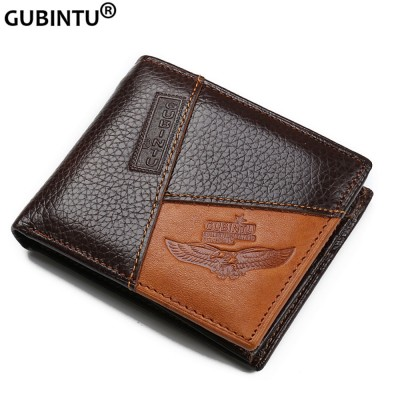 Genuine Leather Men Wallets with Coin Pocket mens wallet with zipper compartment Real Male Purse Wallets
