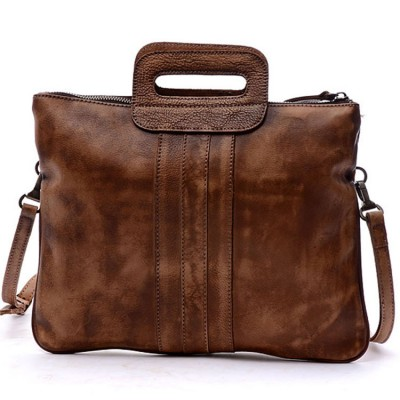 2019 vintage handbag handmade women genuine Cow Soft leather casual totes cross body Real cowhide Cross-body shoulder bag