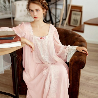 Healthy Home Dress Nightgown Women Plus Size Long White Cotton Sleepwear Flare Sleeve Casual Night Dress Sleep Shirt Lady