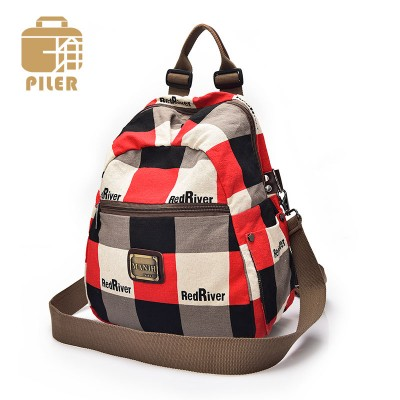 New Arrival Canvas Backpack Women Fashion School Bags for Teenagers Preppy Style Mini Backpack Printing Military Backpack