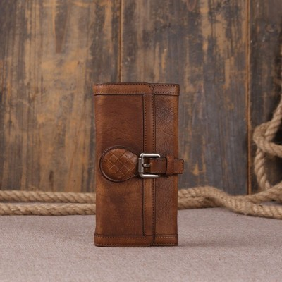 2019 Promotion New Vintage Genuine Leather Women Wallet Long Coin Pocket Purse Phone Female Card Holder Cowhide Pures Clutch