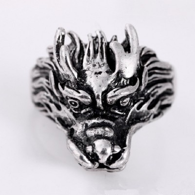 MISANANRYNE Men Gifts 5 Designs Stainless Steel animal Head Ring For Men Steampunk Cool Punk Male Ring Personality Style Bijoux
