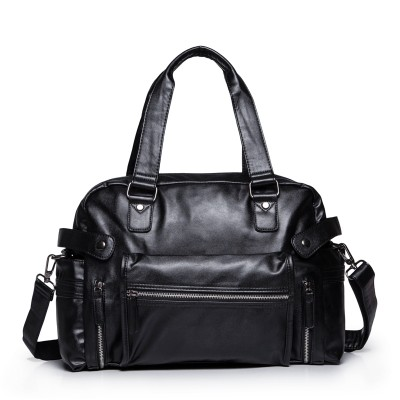 HOT! New 2017 Men's Black Leather Shoulder Bag Leisure Travel Large Capacity Handbag Fashion Classic Man Messenger Bag