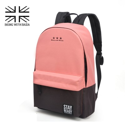 2019 Stylish Canvas School Backpacking Backpack Children Schools Back Pack Leisure Korean Style Knapsack Bags for teenage Girls