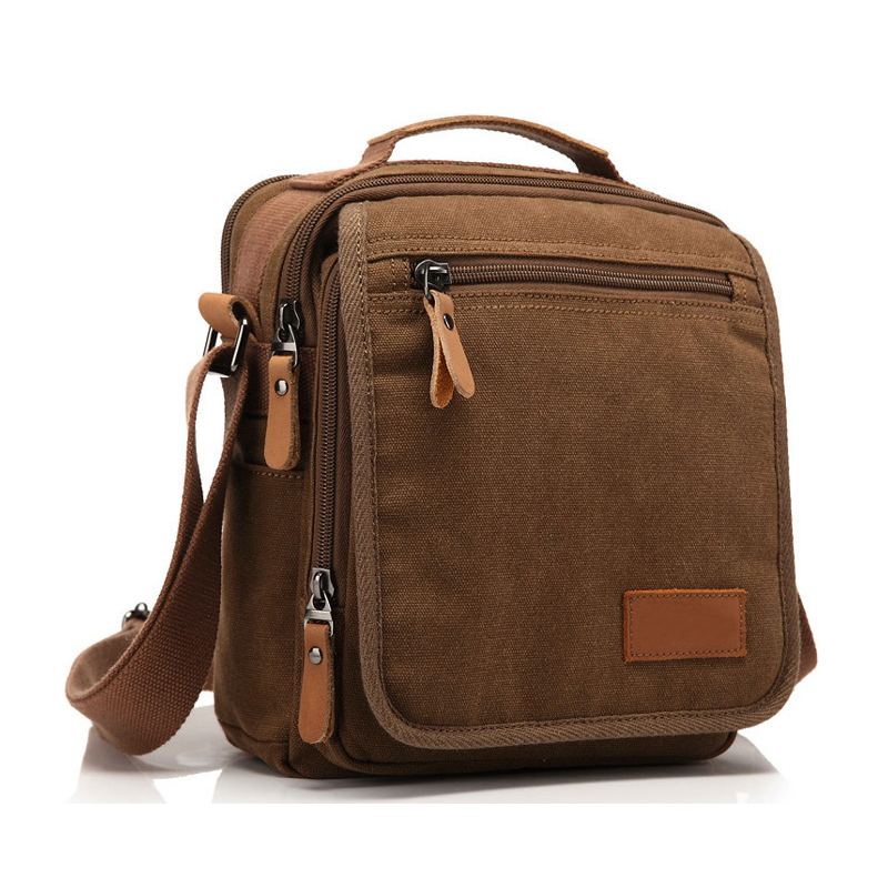 Men Women Messenger Bag Vintage Small Canvas Shoulder Crossbody Bag Purse