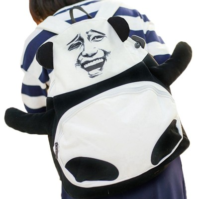 2017 Panda Backpacks Cute Funny Backpack Expression Design High School Book Bags for Teenage Girls Canvas Travel Rucksack L476