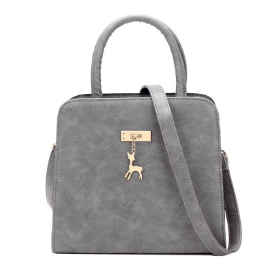 Retro Nubuck Leather Classy Shell Bag Women Black Grey Burgundy PU Handbag Lady Fashion Small Square Bag Female Crossbody Bag