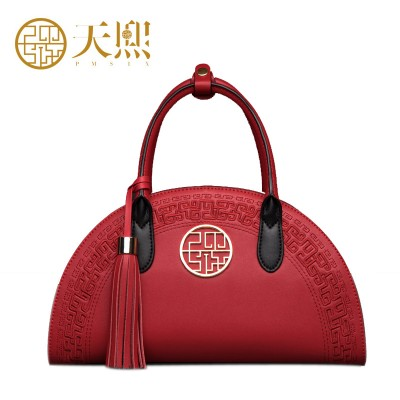 Chinese Style Designer Brand Women Hansbags 2017 Luxury Embossed Handbag Banquet Bags Bride Bag BlackRed 120024