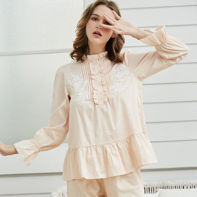 Pajamas For Woman Long Sleeve Pajamas Autumn Cotton Sleepwear Women Lovely Sweet  Pyjamas Ladies Princess Sleep Lounge