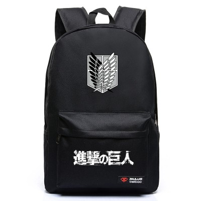 Cosplay Bag J77 Anime Cartoon Attack on Titan Cosplay Backpack Shingeki No Kyojin School Bag Rucksack Men's Travel Bags Scouting Legion