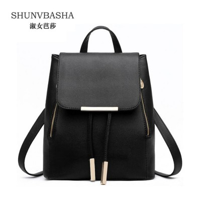 vintage casual new style leather school bags high quality hotsale women candy clutch ofertas famous designer brand backpack