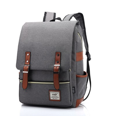 2019 Vintage Women Canvas Backpacks For Teenage Girls School Bags Large High Quality Mochilas Escolares New Fashion Men Backpack
