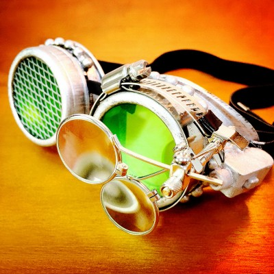 Original Green Steampunk Goggles Sunglasses Steampunk Props Cosplay Props Bar